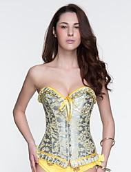 cheap -YUIYE® Women Elegant Flower Push Up Bra Sexy Corset Waist Shaper Overbust XXL Sexy Lingerie Corset Waist Cincher