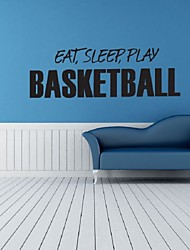 cheap -Eat Sleep Play Basketball Wall Stickers For Kids Rooms Decal Art Home Decor Basketball Sports Basketball Wall Art Decor