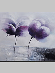 Hand-Painted Abstract Modern Blooming Flowers Knife Oil Painting On Canvas Ready To Hang One Panel