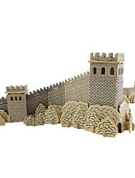 Недорогие -3D пазлы Деревянные пазлы Деревянные игрушки Китайская архитектура Дерево Мальчики Девочки Игрушки Подарок