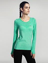 abordables -Mujer Cuello Barco Camiseta de running - Rosa Rojo, Verde, Azul Deportes Sexy, Moda Camiseta / Top Manga Corta Ropa de Deporte Secado
