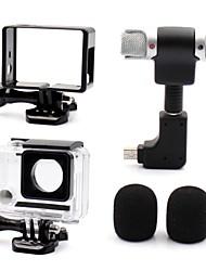 Smooth Frame Schutzhülle Mikrofon Ministil Alles in Einem Praktisch Staubdicht, Für-Action Kamera,Gopro 4 Gopro 3 Gopro 3+ Universal Film