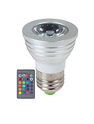 cheap -YWXLIGHT® 270 lm E14 GU10 E26/E27 LED Spotlight 1 leds High Power LED Dimmable Remote-Controlled RGB AC 85-265V