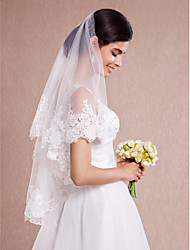 Wedding Veil One-tier Blusher Veils / Shoulder Veils / Elbow Veils / Fingertip Veils Lace Applique Edge
