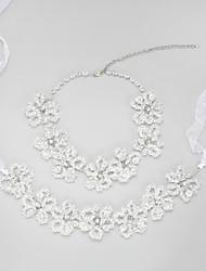 Недорогие -Прозрачный Кристалл Комплект ювелирных изделий регулярное Включают Прозрачный Назначение Свадьба Для вечеринок Обручение