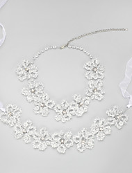 baratos -Mulheres Conjunto de jóias Colares Tiaras - Regular Outros Claro Para Casamento Festa Noivado