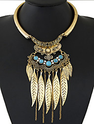 cheap -Women's Statement Necklace  -  Tassel Fashion European Circle Gold Silver Necklace For