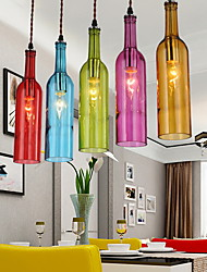 cheap -E27 5-15㎡ 220V Diffuse Light Clothing Store Coffee Color Restoring Ancient Ways Bottle Droplight  Pendant Lights LED