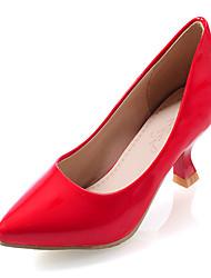 cheap -Women's Shoes Kitten Heel Pointed Toe Heels Dress Black / Yellow / Green / Pink / Red / White / Gold