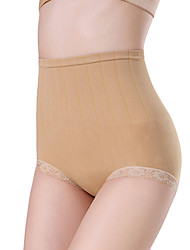 cheap Panties-Women's Shaping Panties - Lace, Solid Colored High Waist