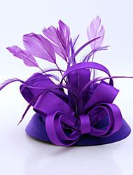 abordables -flannelette pluma satén fascinadores casco clásico estilo femenino