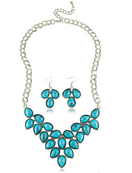 Jewelry Set Women's Anniversary / Gift / Party / Daily Jewelry Sets Alloy Rhinestone Necklaces / Earrings Black / Red / Blue / Green