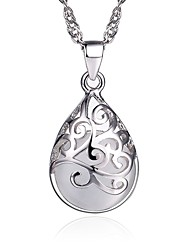 cheap -Women's Jewelry Fashion Pendant Necklace Silver Sterling Silver Pendant Necklace , Gift Daily Casual