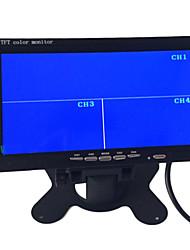 baratos -9 polegadas carro quad-TFT-LCD monitorar retrovisor com 4 canais av