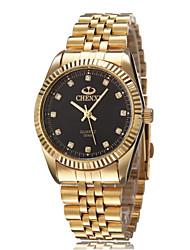 CHENXI® Pánské Náramkové hodinky Voděodolné Křemenný Slitina Kapela Zlatá