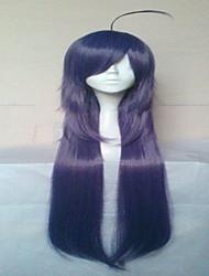 elegantes roxo peruca cosplay perucas de cabelo sintético longo partido perucas animado reta perucas 015c
