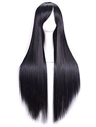 80 Cm Heat Resistant Harajuku Anime Cosplay Wigs Young Long Straight Synthetic Hair Wig/Wig For Japanese Anime