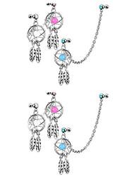 preiswerte -Ohrenpiercing - Sterling Silber, Diamantimitate Luxus Damen Weiß Körperschmuck Für Alltag / Normal