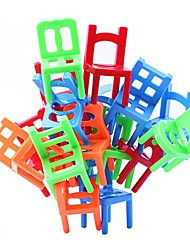 cheap -Stacking Chairs Balance Game Office Puzzle Educational Toy Multi-Colored (18pcs)