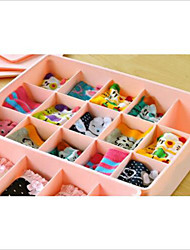 cheap -15 Case Underwear Socks Ties Bras Wardrobe Organizer Drawer Pink Storage PP Plastic Box