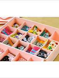 Недорогие -Коробки для хранения Пластик сОсобенность является С крышкой / Открытые , Для Бельё