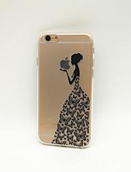 economico -Custodia Per Apple iPhone X iPhone 8 iPhone 8 Plus iPhone 6 iPhone 6 Plus Transparente Fantasia/disegno Per retro Con logo Apple Morbido