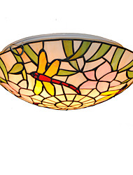 cheap -16inch Retro Tiffany Ceiling Lamp Glass Shade Flush Mount Living Room Dining Room light Fixture