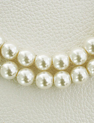 Beadia 2 Str(approx 230pcs) Glass Beads 8mm Round Imitation Pearl Beads Ivory Color DIY Spacer Loose Beads