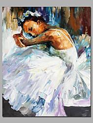 Dipinta a mano Astratto / RitrattiModern Un Pannello Tela Hang-Dipinto ad olio For Decorazioni per la casa