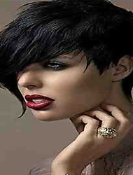 cheap -Synthetic Hair Wigs Straight Curly Carnival Wig Halloween Wig Celebrity Wig Black Wig Short Black Daily