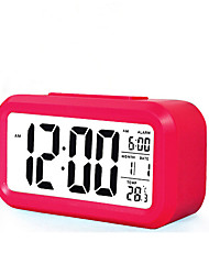 cheap -Large Screen LCD Electronic Clock Lazy Light Induction Snooze Alarm Clock Smart Alarm Clock(Assorted Color)