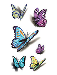 cheap -Sexy Waist Shoulder Water Transfer Tattoo Decal Waterproof Temporary Tattoo Sticker Colorful Butterfly Fake Tattoo