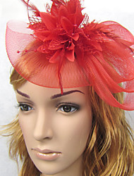 abordables -Lin Plume Filet Bandeaux Fascinators 1 Mariage Casque
