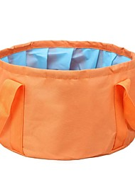 billige -Foldbar spand til campingbrug Enkelt Bærbar / Multifunktionel / Foldbar Kurv Oxford Udendørs for Vandring / Camping / Rejse Orange / Rose Rød