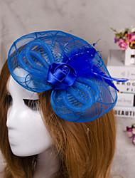 economico -gioielli capelli velo fascinator del fiore della piuma per la festa nuziale