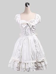 One-Piece/Dress Sweet Lolita Lolita Cosplay Lolita Dress Solid Sleeveless Medium Length Dress For Cotton