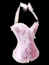 Для женщин Корсет под грудь / Классический корсет Ночное белье Кружева / С принтом / Ретро / Сексуальные платья / Увеличивающий объем