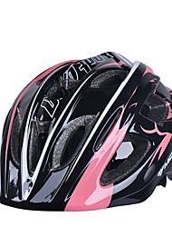 luna di capretto 17 sfiati eps casco nero ciclismo integralmente-stampato (52-55cm) + pc rosa +