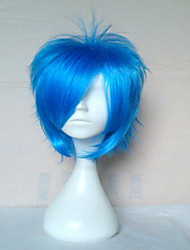 cheap -Top Quality Blue Cosplay Wigs Synthetic Hair Wig Man's Short Straight Animated Wig Party Wig 072A