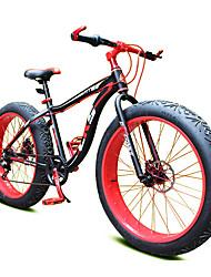 Vélo tout terrain Cyclisme 7 Vitesse 26 pouces/700CC Shimano Frein à Double Disque Fourche à Suspension Mono poutre Ordinaire Acier