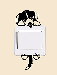 cheap -Dog Puppy Beagle Mural Light Switch Wall Stickers 3120 Funny Wall Art Decal Vinyl Stickers Home Diy Home Decor