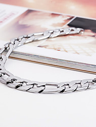 cheap -Men's ID Bracelet - Stainless Steel Unique Design, Fashion Bracelet Silver For Christmas Gifts / Party