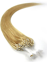 abordables -PANSY Extensión con Micro anillo Extensiones de cabello humano Recto Cabello humano