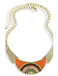 abordables -Femme Perle Collier court / Ras-du-cou Collier de perles Colliers Déclaration  -  Large Le style mignon Mode Noir Orange Bleu Colliers