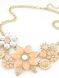 Femme Colliers Déclaration Forme de Fleur Perle Alliage Mode Européen Mariée Fête / Célébration Bijoux Pour Mariage Soirée Occasion