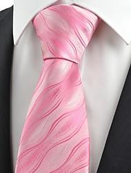 cheap -New Pink Ripple Wave Unique Mens Tie Necktie Wedding Party Valentines Gift KT0086
