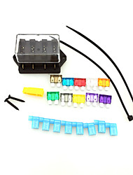 IZTOSS Car Truck 4 Way Circuit Standard ATO Blade Fuse Box Block Holder 12V 24V with fuse and tools for mounting