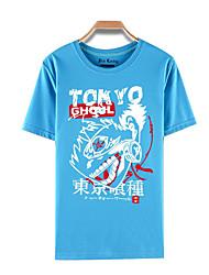 abordables -Inspiré par Tokyo Ghoul Ken Kaneki Manga Costumes de Cosplay Cosplay T-shirt Imprimé Manches Courtes Haut Pour Masculin