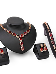cheap -Women's Jewelry Set Rhinestone Synthetic Ruby Personalized Fashion Euramerican Statement Jewelry Wedding Party Special Occasion Engagement