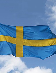 cheap -Sweden Flag 3*5 Feet. Polyester Flag.90*150 Banners. Big Flag Banner ,Swedish Flag Banner(Without flagpole)